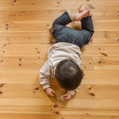 Toddler on Floor